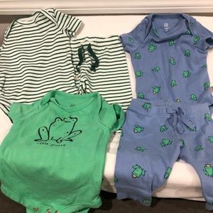 Baby boy onesie and pant outfit